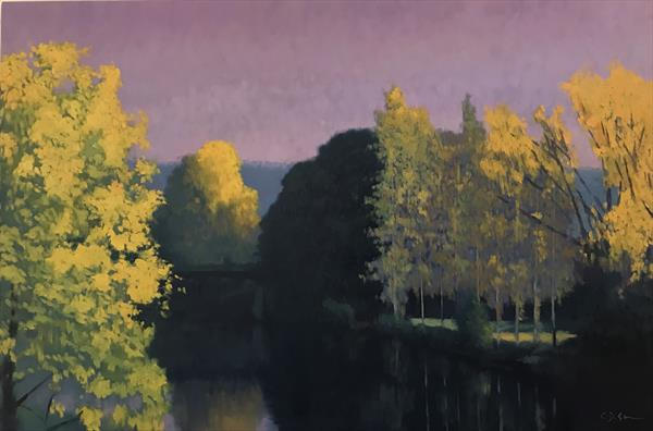 River in Burgundy by Christopher Gill