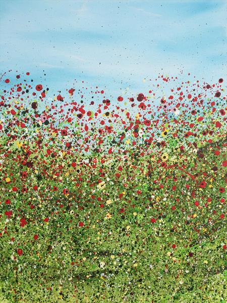 Spray Of Poppies by Lucy Moore