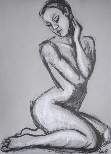 Posture 1 - Female Nude by Carmen Tyrrell