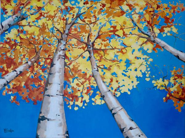 Silver Birch trees  by Marilene Salles