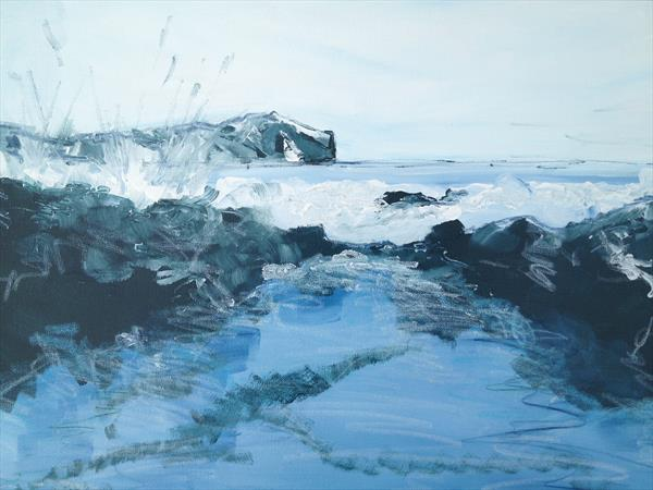 Seascape with Splash by Kirsteen Lyons