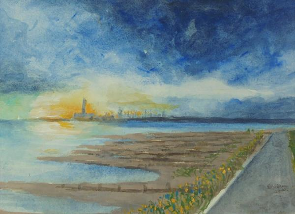 EVENING SOLENT PATHWAY by John Davies