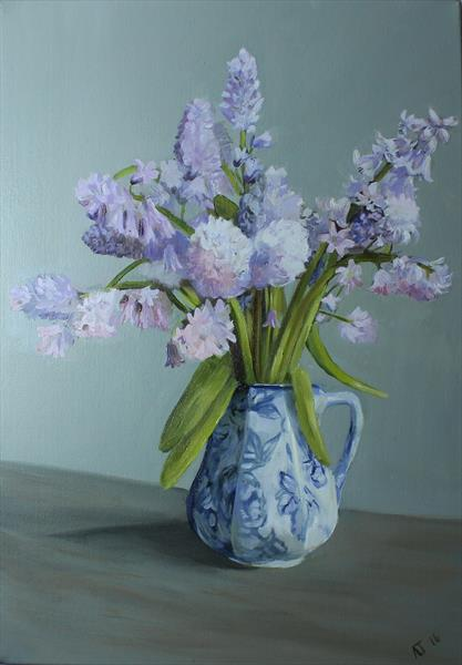 Bluebells in a Vase by Alex Jabore