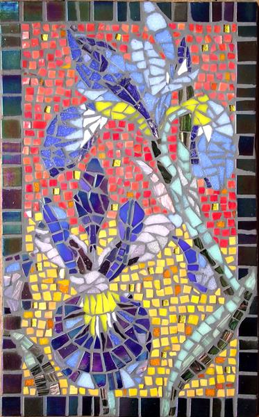 Floral mosaic by Gill Aitken