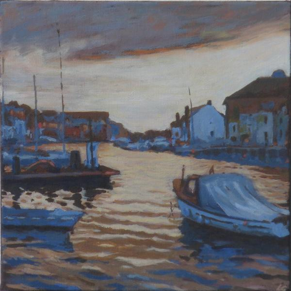 Weymouth Harbour Twilight 2 by Louise Gillard