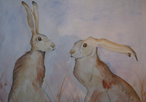 Two Hares by Becca Fielding