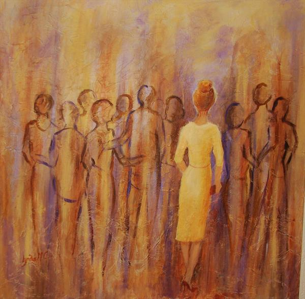 STAND OUT FROM THE CROWD by Lynda Cockshott