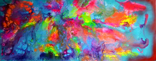 Happy Harmony II - 150x60 cm - Big Painting XXXL - Large Abstract, Supersized Painting by Soos Tiberiu - Anton