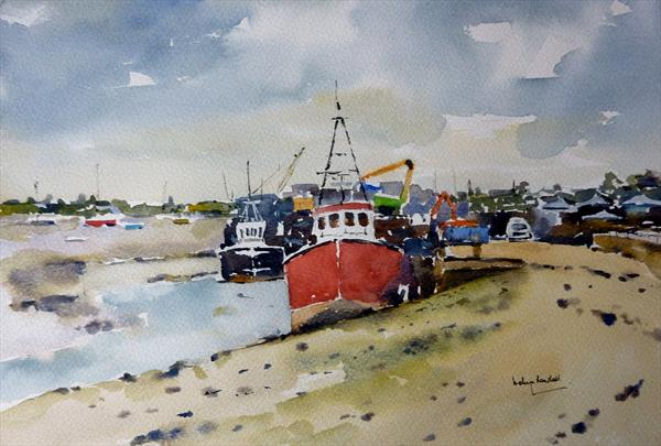 Cockle Boats at Leigh on Sea by Melvyn Randall