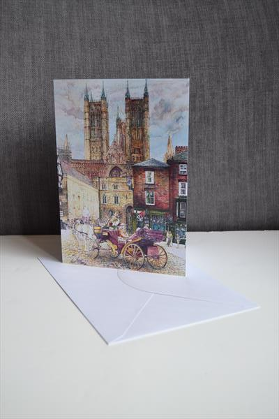 Set of 5 luxury Iconic Lincolnshire Greeting Cards by Carl Paul