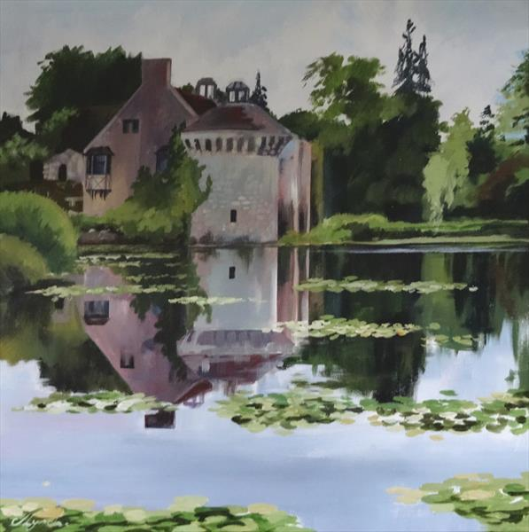 Reflections Scotney Castle by Joseph Lynch