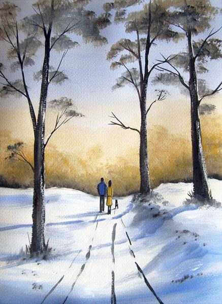 A Walk In The Snow by Sarah Featherstone