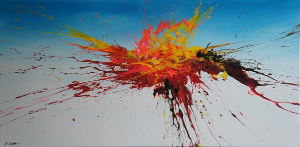 Burst Into Flames (Spirits Of Skies 098062) (140 x 70 cm) XXL (56 x 28 inches) by Ansgar Dressler