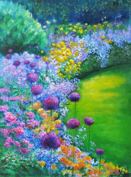 The Herbaceous Border by Maureen Greenwood