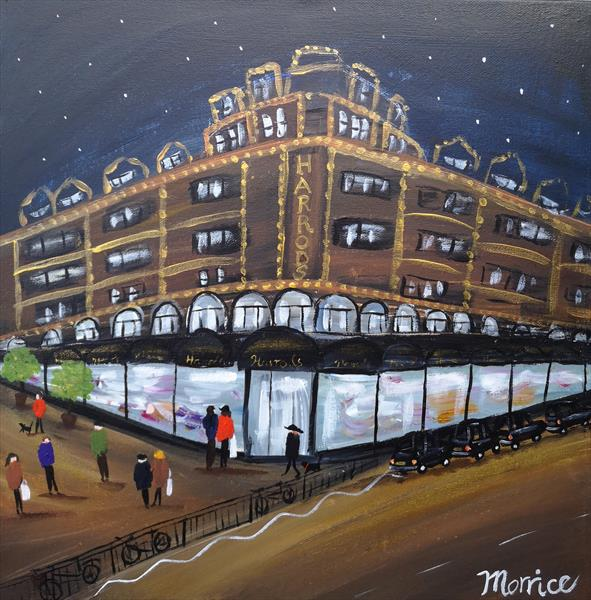 I'd rather be late night shopping at Harrods  by cheryl Morrice
