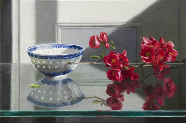 Rice Bowl & Spring Blossom by Andrew Mcneile Jones