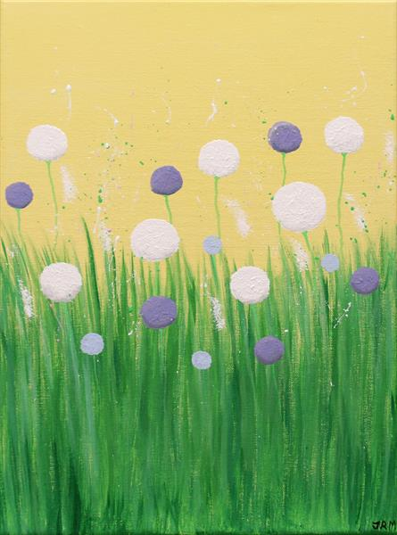 Pastel Summer Flowers by Jacqueline Moore