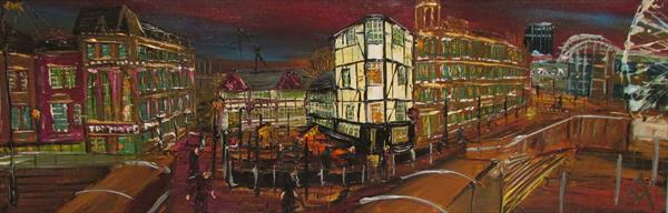 Sinclairs oyster bar, shambles square by night by Andrew Alan Matthews