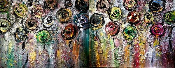 Abstract (Diptych) by Monika Hornsby