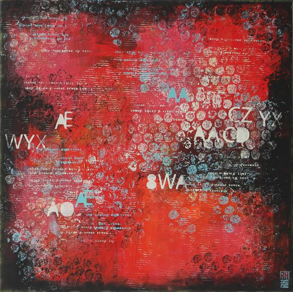 TYPOPOP IN RED - TYPOGRAPHY ARTWORK - I21 by Ronald Hunter