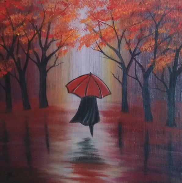 ''Another Day With...Red Umbrella'' by Jelena Manestar