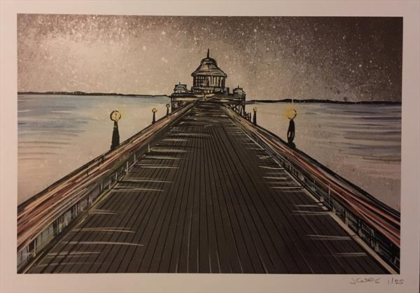 Clevedon Pier - Limited edition print by John Curtis