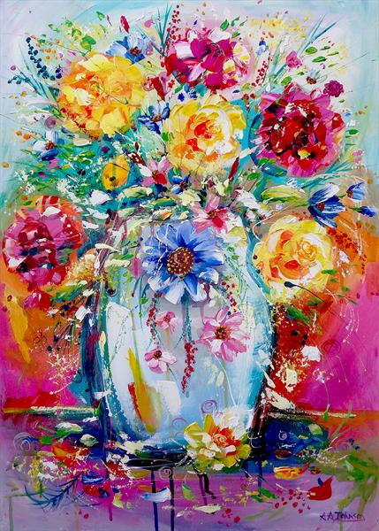 Flower painting -
