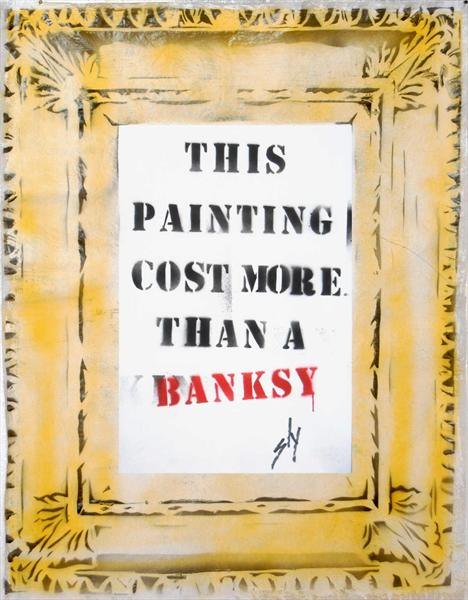 Cost More Than a Banksy (On the Daily Telegraph) by Juan Sly