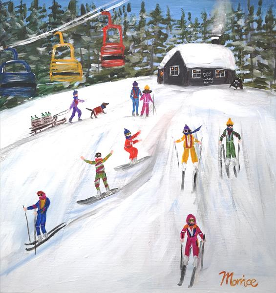If rather be on the slopes  by cheryl Morrice
