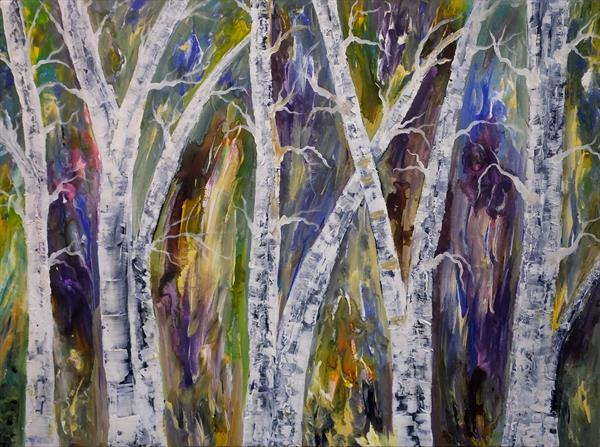 Birch Symphony (Large) by Hester Coetzee