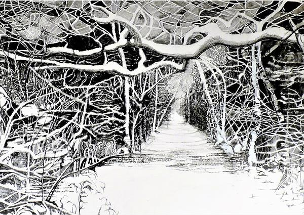 Winter in Black Walk Nook by Peter Smith