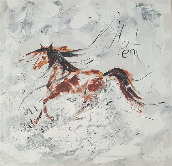 'Abstract Horse' by Kat  Herrgott-Penter
