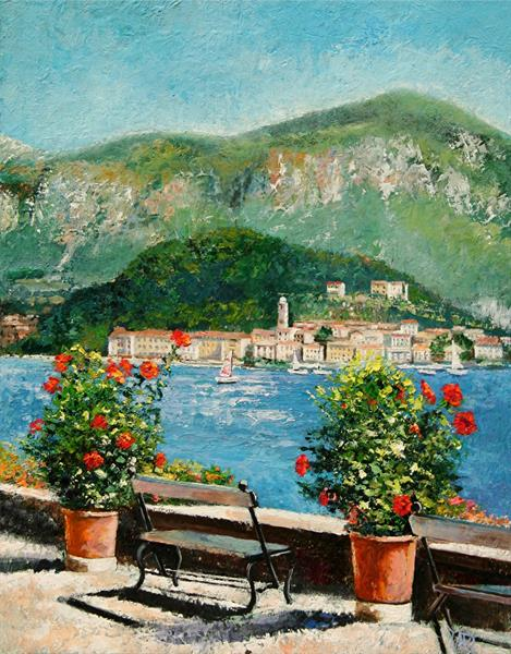Overlooking Como by Yary Dluhos