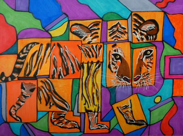 Dissected Tiger by George Hunter