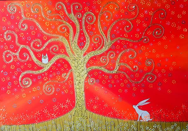The Hare, The Owl and the Tree of Life by Angie Livingstone