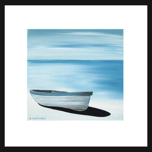 Blue Boat by Suzanne Whitmarsh