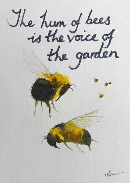 The hum of bees... by Teresa Tanner
