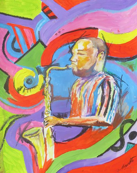 Saxophone Player by Gavin Singleton