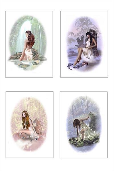 Wood Nymphs the spirits of the forrest. by leslie garrett