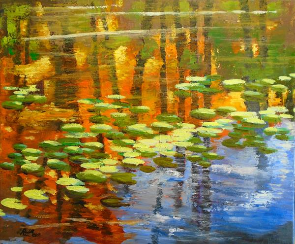Sunlight on the lilies by Rod Bere