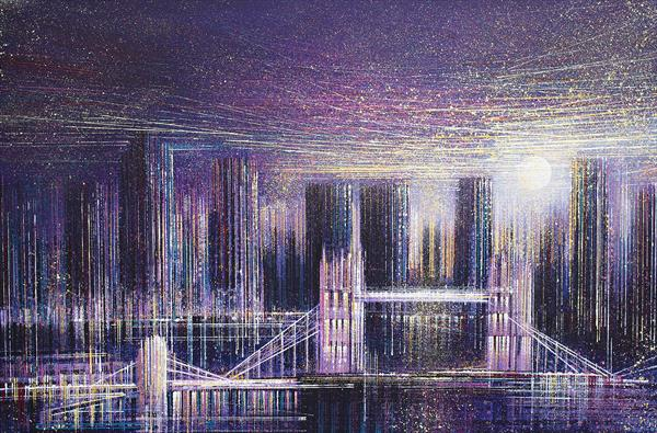 London - Tower Bridge Under Moonlight by Marc Todd