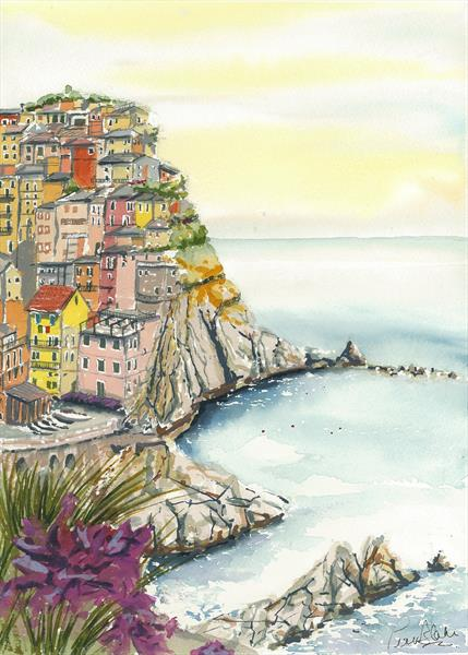 Manarola by Peter Blake
