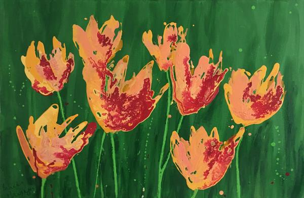 Wild tulips by Nineke Havinga