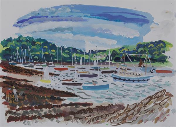Calm at St Mawes by alan furneaux