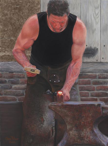 Blacksmith at Work by John Palmer