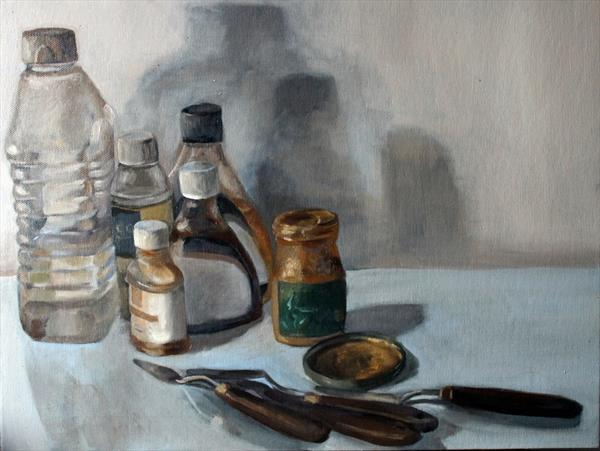Still Life of Solvents by Alex Jabore
