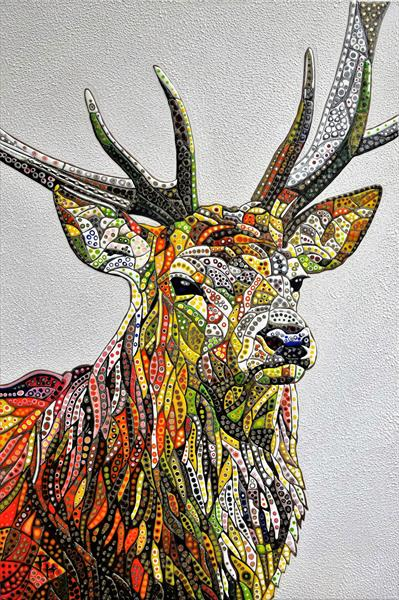 Abstract Deer 18 (Sculptural) by Paula Horsley