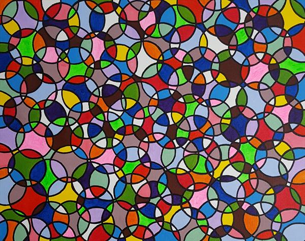 Abstract circles 6 by Lee Proctor