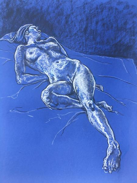 Reclining Blue by Richard Storey