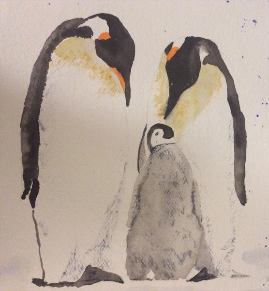 Penguin family by Denise Windle
